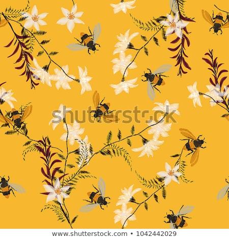Abelhas decorativo textura primavera abstrato Foto stock © elenapro