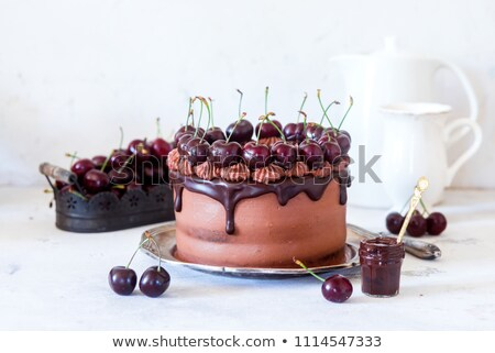 plaster · ciasto · biały · tablicy · żywności · charakter - zdjęcia stock © petrmalyshev