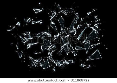 Pieces of demolished or Shattered glass on black Stock photo © Arsgera