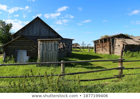 Landscape behind an old Building Stock photo © Kayco