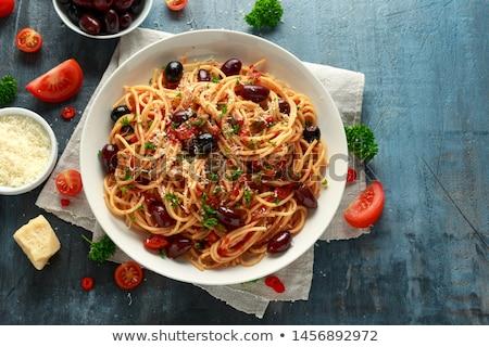 előkészítés · ízletes · zöldség · étel · konyha · piros - stock fotó © joker