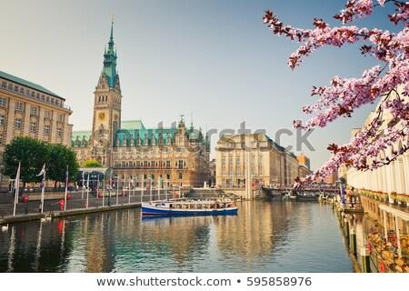 Rathaus, famous town hall in Hamburg, Germany Stock photo © vladacanon