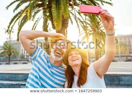 Romantic couple dating having fun in Barcelona Stock photo © Maridav
