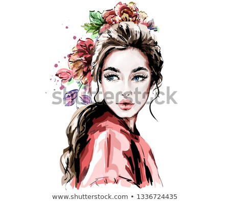 Beautiful woman in the fabric Stock photo © prg0383