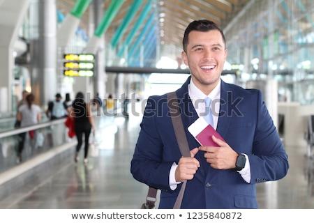 Kínai munka engedély útlevél állás Stock fotó © tangducminh