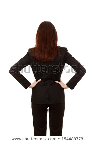 businessman staring at womans back stock photo © andreypopov