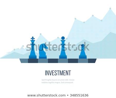 estratégico · gestão · ícone · dois · xadrez · verde - foto stock © robuart
