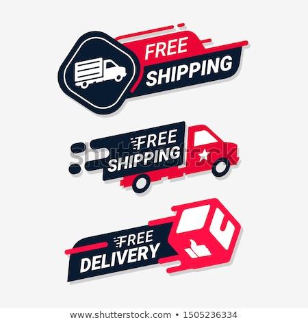 Szállítás ingyenes szállítás illusztráció stilizált autó teherautó Stock fotó © Anna_leni