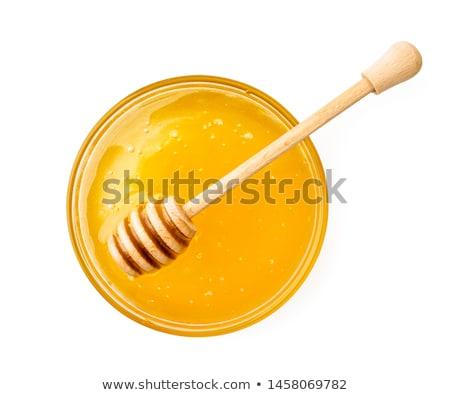 меда ковш продовольствие знак Bee информации Сток-фото © glorcza