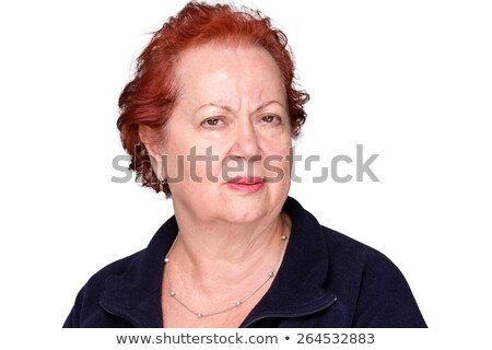 Perplexed senior lady with a puzzled frown Stock photo © ozgur