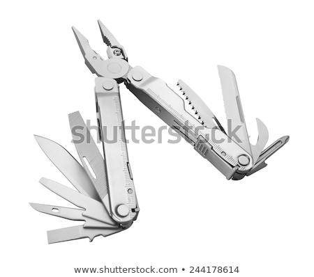 ногтя · щипцы · белый · стали · ухода · ножницы - Сток-фото © ozaiachin