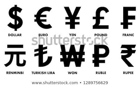 monnaie · euros · livre · dollar · icône · vecteur - photo stock © Dxinerz