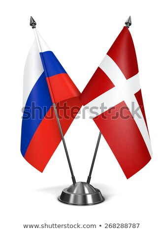 Stock photo: Russia and Sovereign Military Order Malta - Miniature Flags.