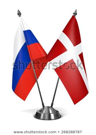 Russia and Sovereign Military Order Malta - Miniature Flags. Stock photo © tashatuvango