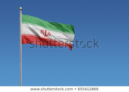 emberek · zászló · Irán · izolált · fehér · tömeg - stock fotó © mikhailmishchenko
