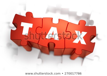 Charge - White Word on Red Puzzles. Stock photo © tashatuvango