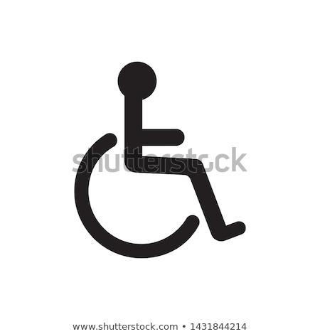 Foto stock: Cadeira · de · rodas · esboço · cara · médico · projeto