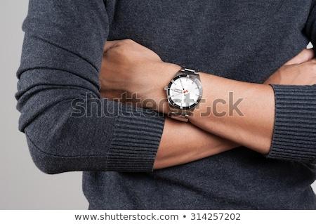 luxury silver man watch Stock photo © ozaiachin