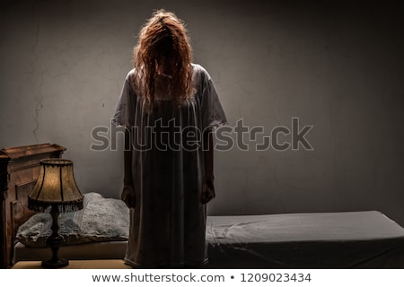 satan halloween concept with scary woman stock photo © elnur