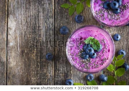 appetizing food on rustic breakfast tray stock photo © ozgur