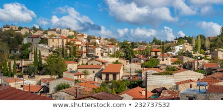 panoramic view of lofou a famous touristic village in cyprus l stock photo © kirill_m