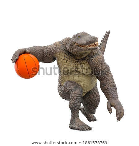 3d man with big basket ball concept Stock photo © nithin_abraham