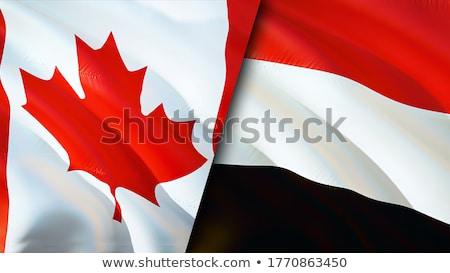 Canadá Iémen bandeiras quebra-cabeça isolado branco Foto stock © Istanbul2009