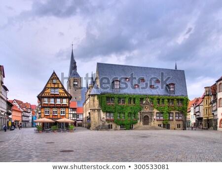 quedlinburg townhall germany stock photo © haraldmuc