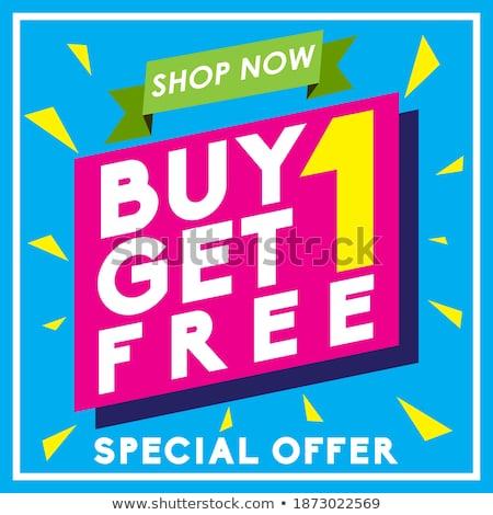 Get Your Deal Blue Vector Icon Design Stock photo © rizwanali3d