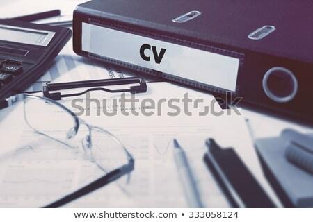 Сток-фото: служба · папке · cv · Desktop