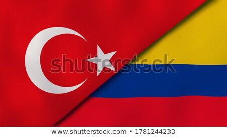 トルコ コロンビア フラグ パズル 孤立した 白 ストックフォト © Istanbul2009