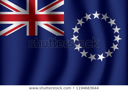 United Kingdom and Cook Islands Flags Stock photo © Istanbul2009