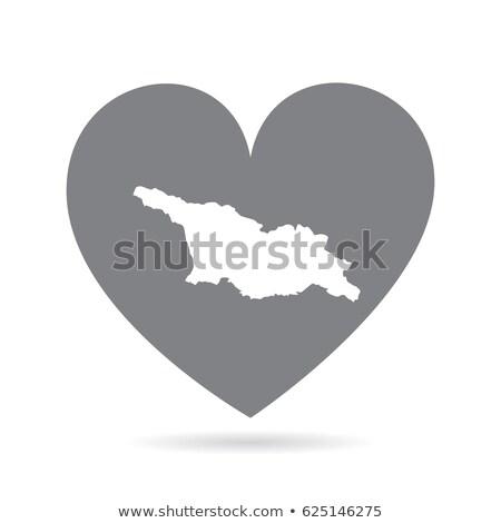 Liefde Georgië teken geïsoleerd witte vlag Stockfoto © MikhailMishchenko