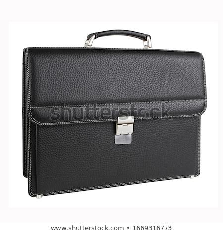 ビジネス · ブリーフケース · 孤立した · 白 · 黒 - ストックフォト © shutswis