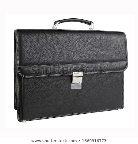 Affaires sac serviette noir chrome bureau Photo stock © shutswis