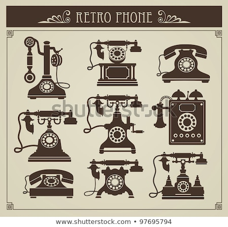 vintage telephone apparatus  Stock photo © OleksandrO