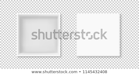 Blanco cuadro primer plano abierto cartón aislado Foto stock © cherezoff