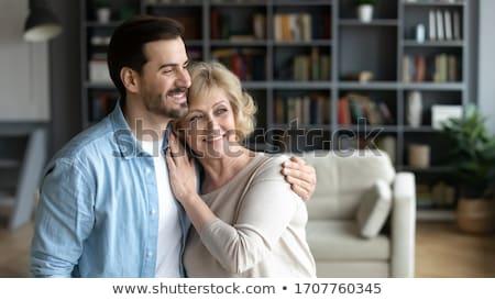 Happy senior man with a wide warm smile Stock photo © ozgur