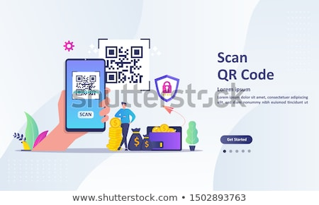 Personnes main Barcode scanner scanner Photo stock © AndreyPopov