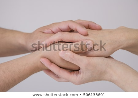 Hand about to touch another one Stock photo © ra2studio
