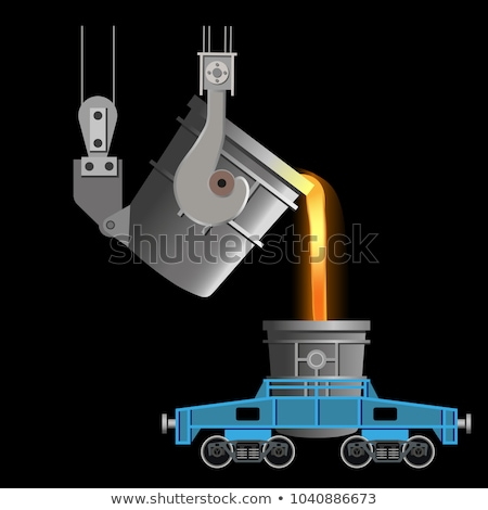 Hot metal ladle car transportation Stock photo © mady70
