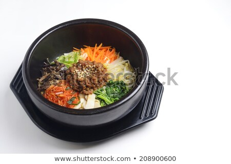 bibimbap heated stone bowl Stock photo © vichie81
