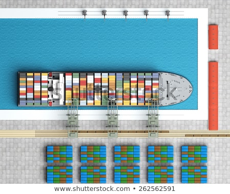 Top view of boats parking at the pier Stock photo © bluering