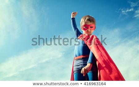 мальчика одевание вверх superhero Flying иллюстрация Сток-фото © bluering