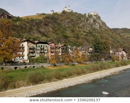 Abbaye Italie montagne Rock château tour Photo stock © LianeM