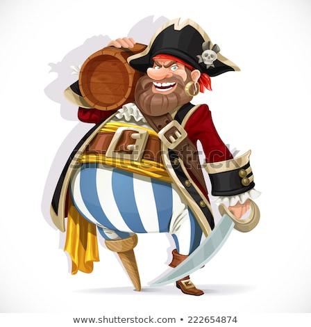 Stock photo: Pirate holding a cutlass sword