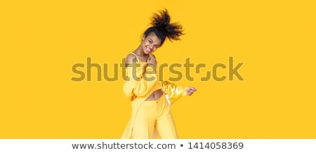 Pretty African Woman in Casual Summer Clothing Stock photo © dash