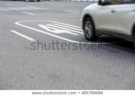 40 mph vezetés sebességhatár felirat autópálya Stock fotó © stevanovicigor