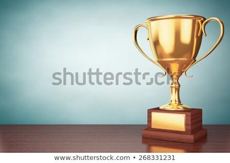 golden team with reflection Stock photo © marinini