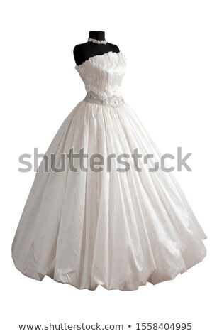 Woman in wedding dress isolated on white Stock photo © Elnur
